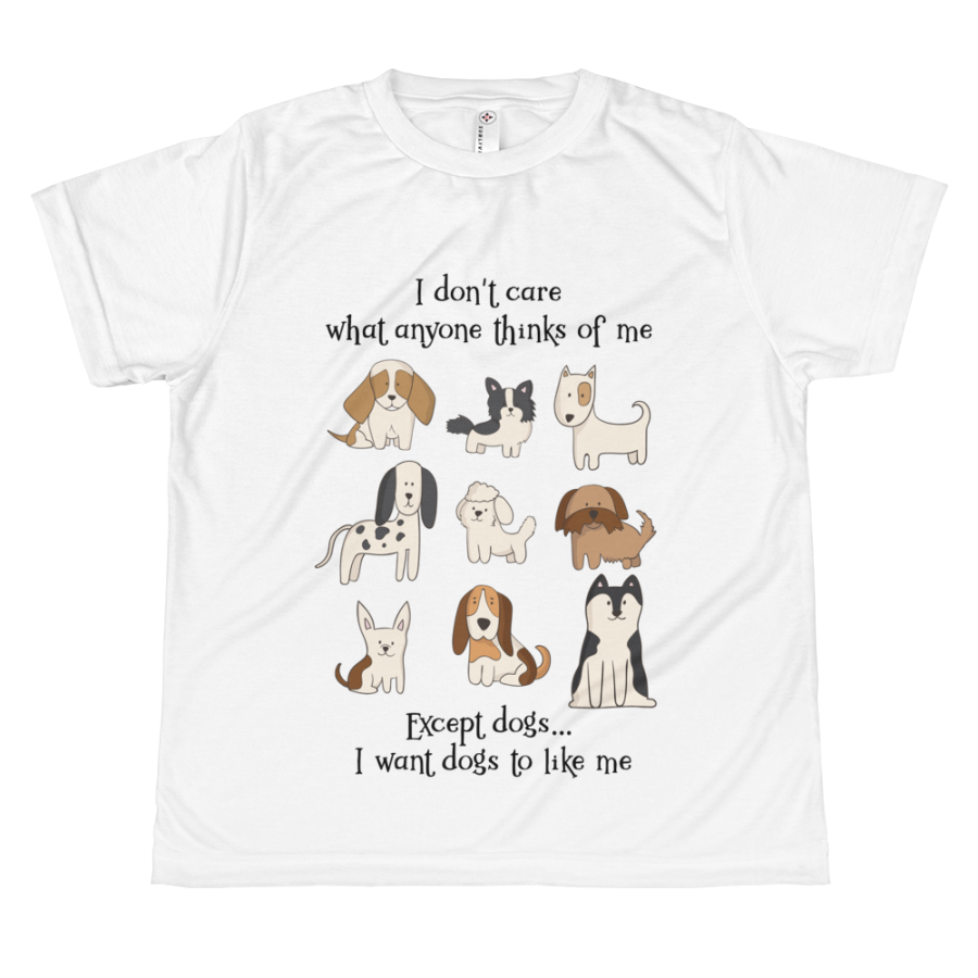 I want dogs to like me kids t-shirt
