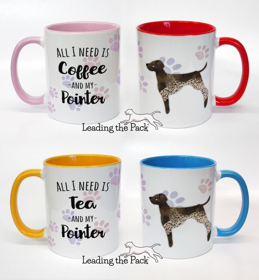 All I need is coffee/tea and my pointer mugs & coasters