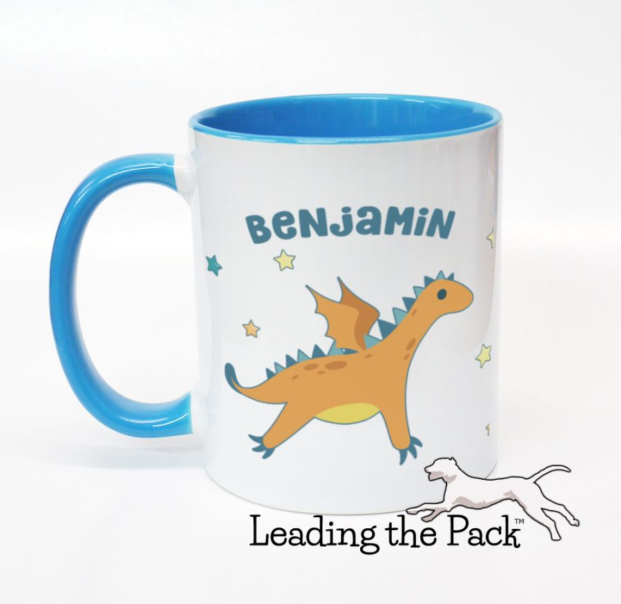 Personalised dragon mugs & coasters