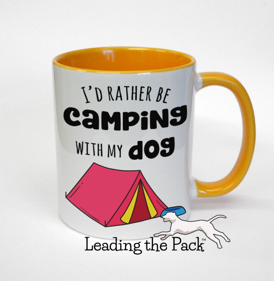 I'd rather be camping with my dog mugs & coasters