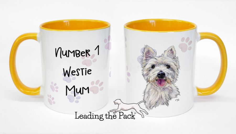 No. 1 westie mum mugs & coasters