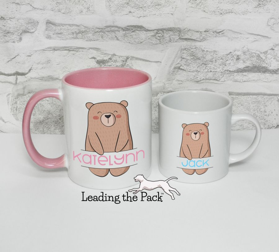 Personalised bear mugs & coasters
