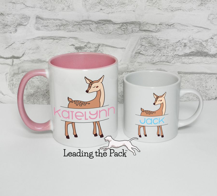 Personalised deer mugs & coasters