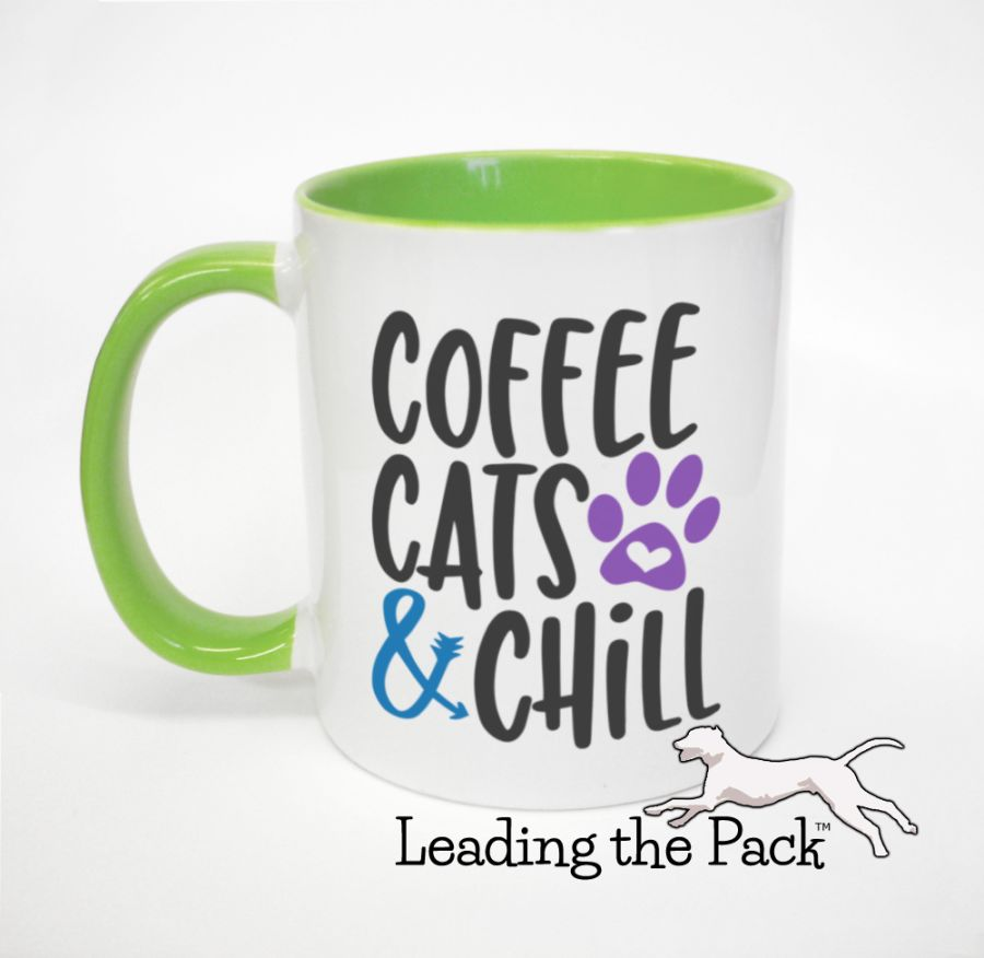 Coffee cats and chill mugs & coasters