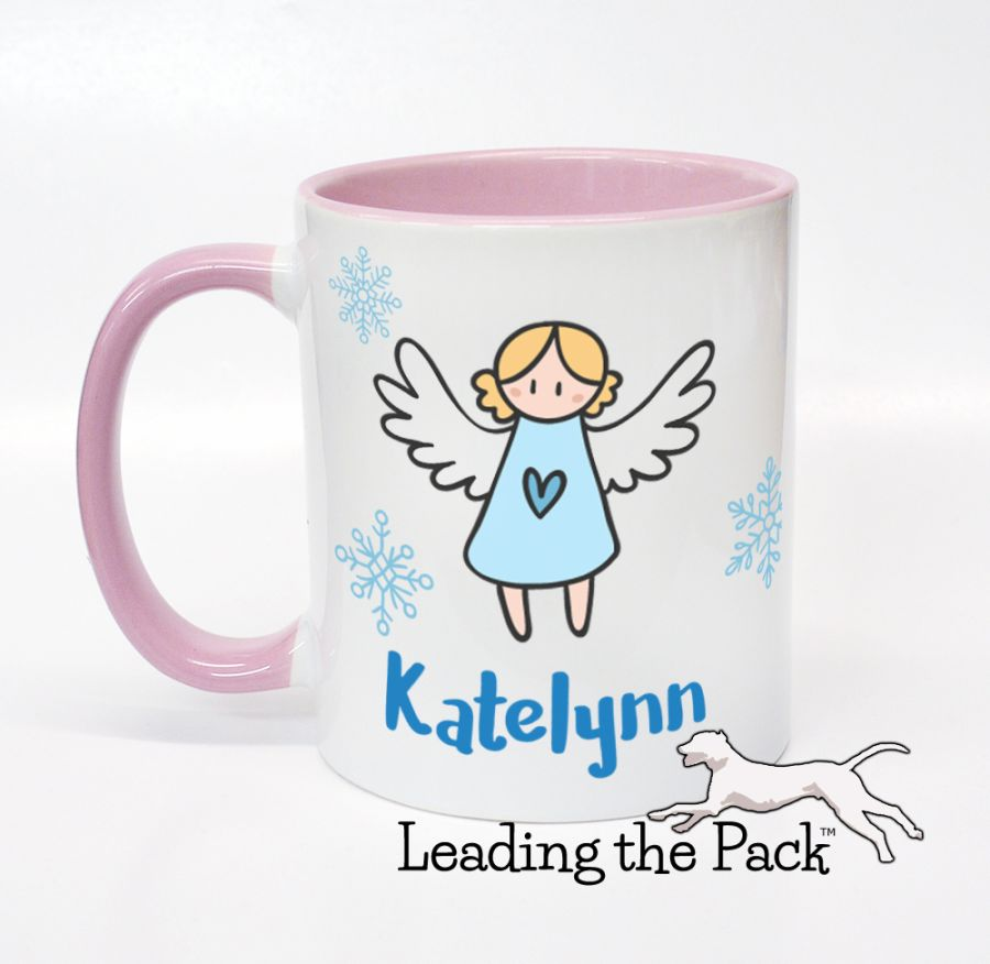 Personalised angel mugs & coasters