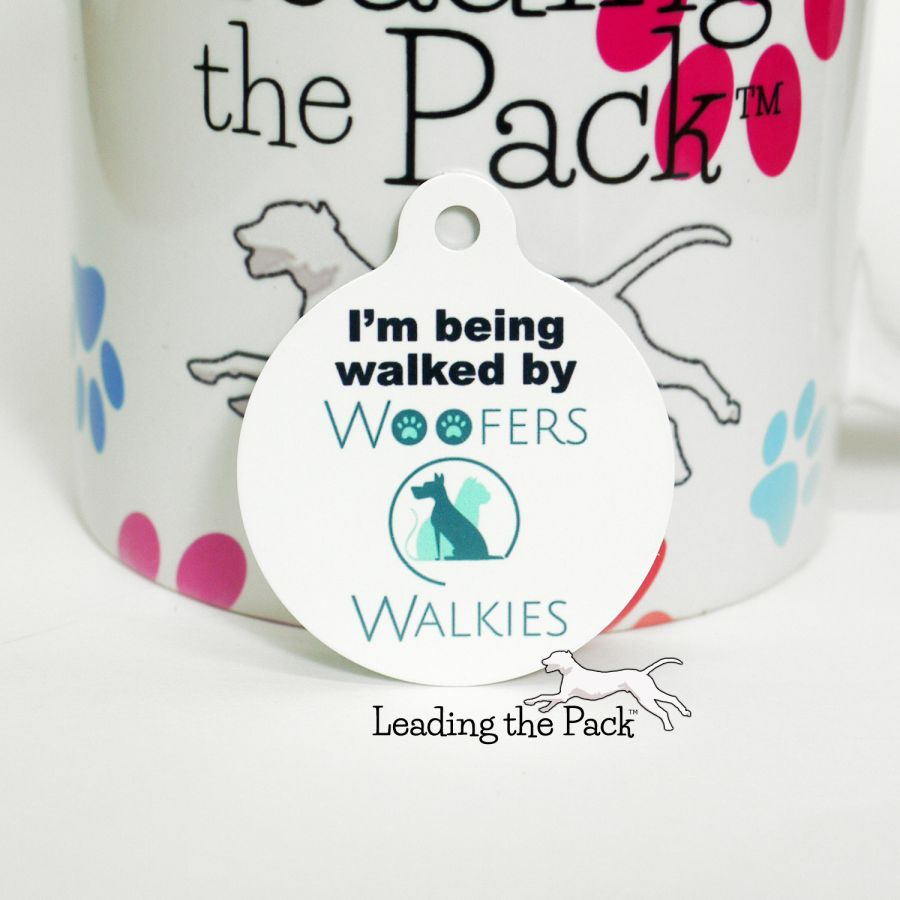 Dog walker/day care business logo round tags