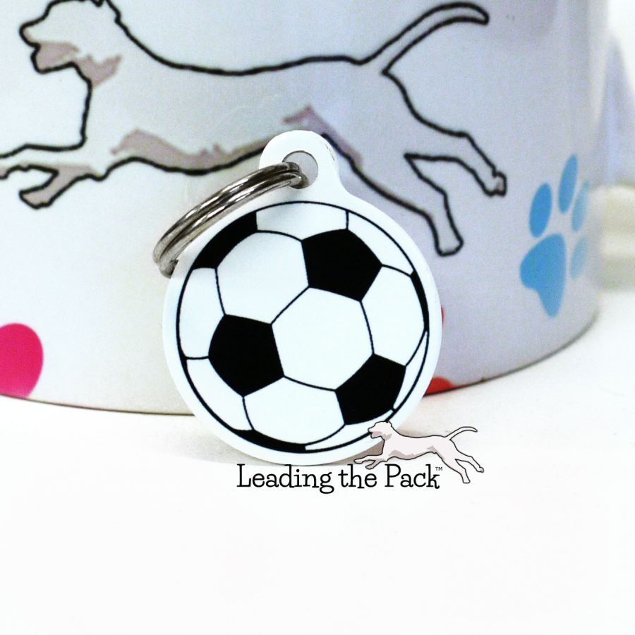 Football soccer round shaped tags