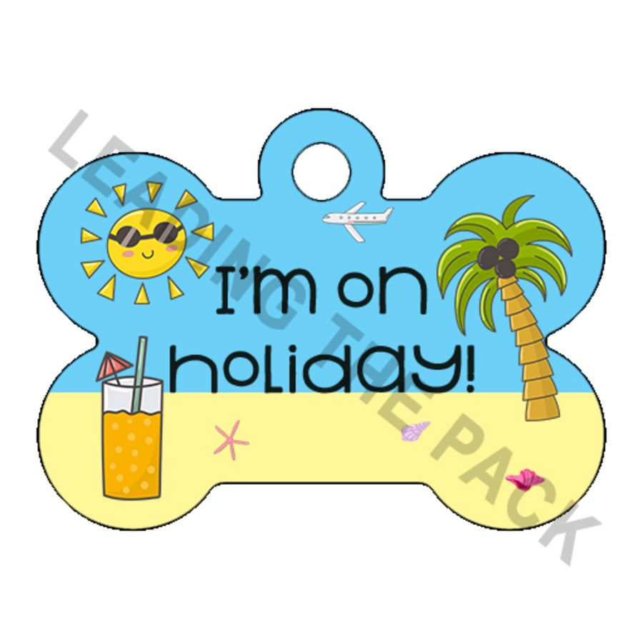 Beach holiday bone shaped tags