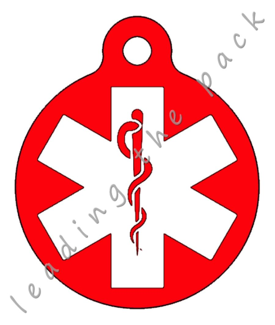 Medical alert round shaped tags