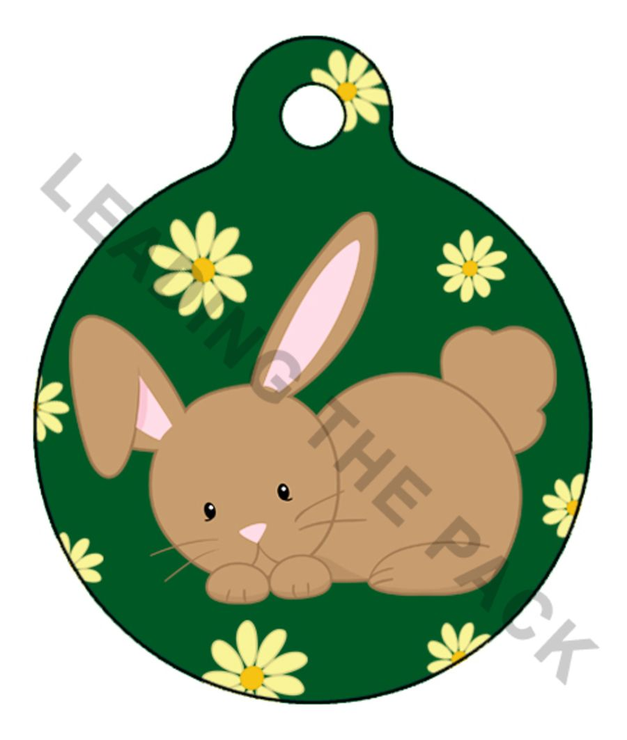 Bunny rabbit round shaped tags