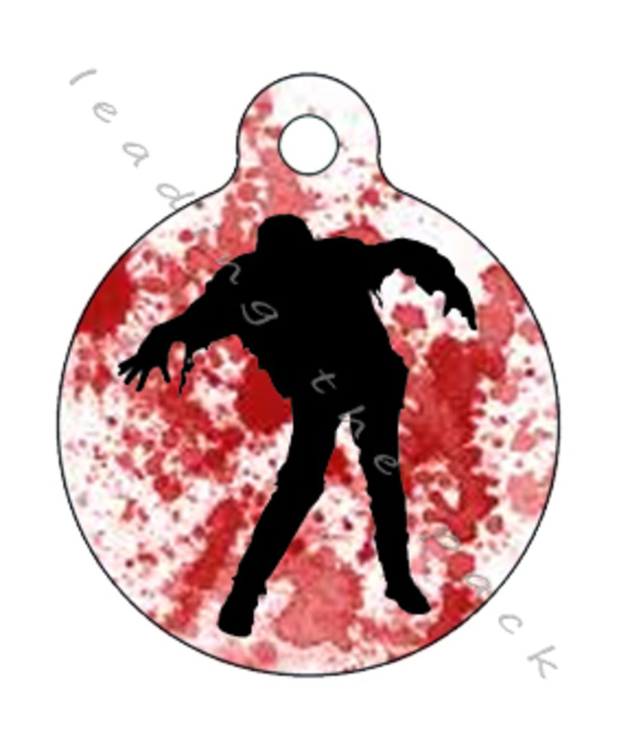 Zombie round shaped tags