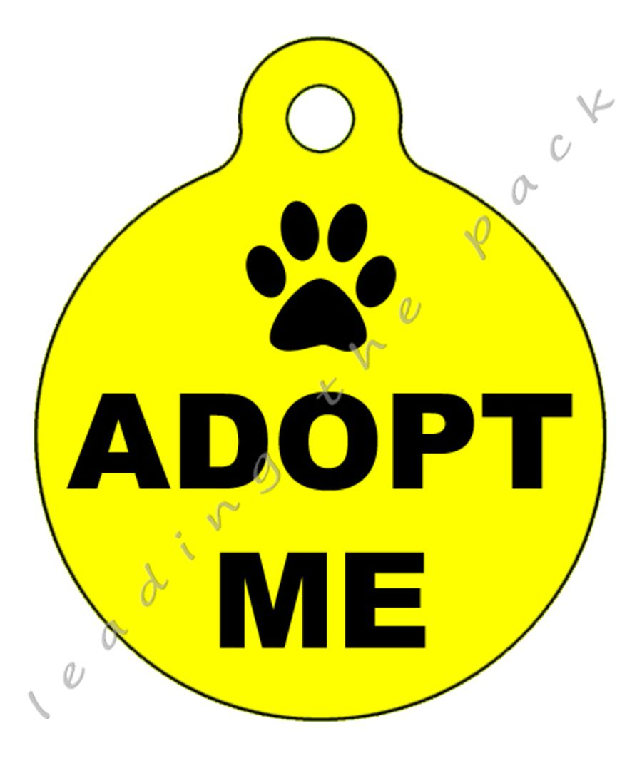 Adopt me round shaped tags