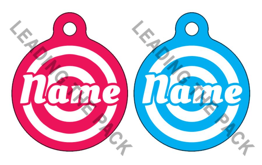 Target round shaped tags