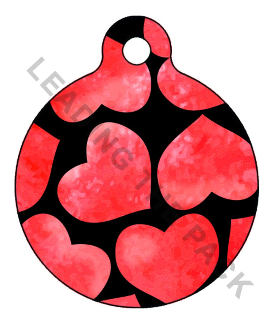 Hearts round shaped tags