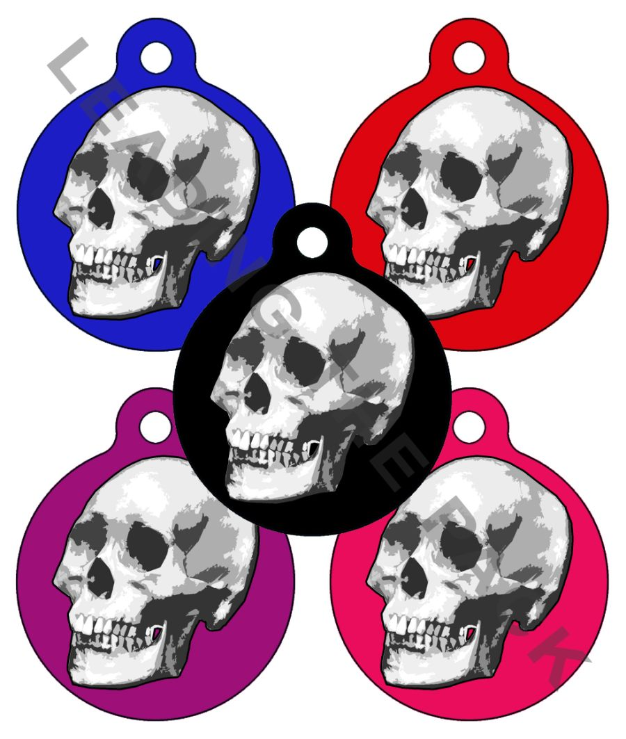 Skull round shaped tags