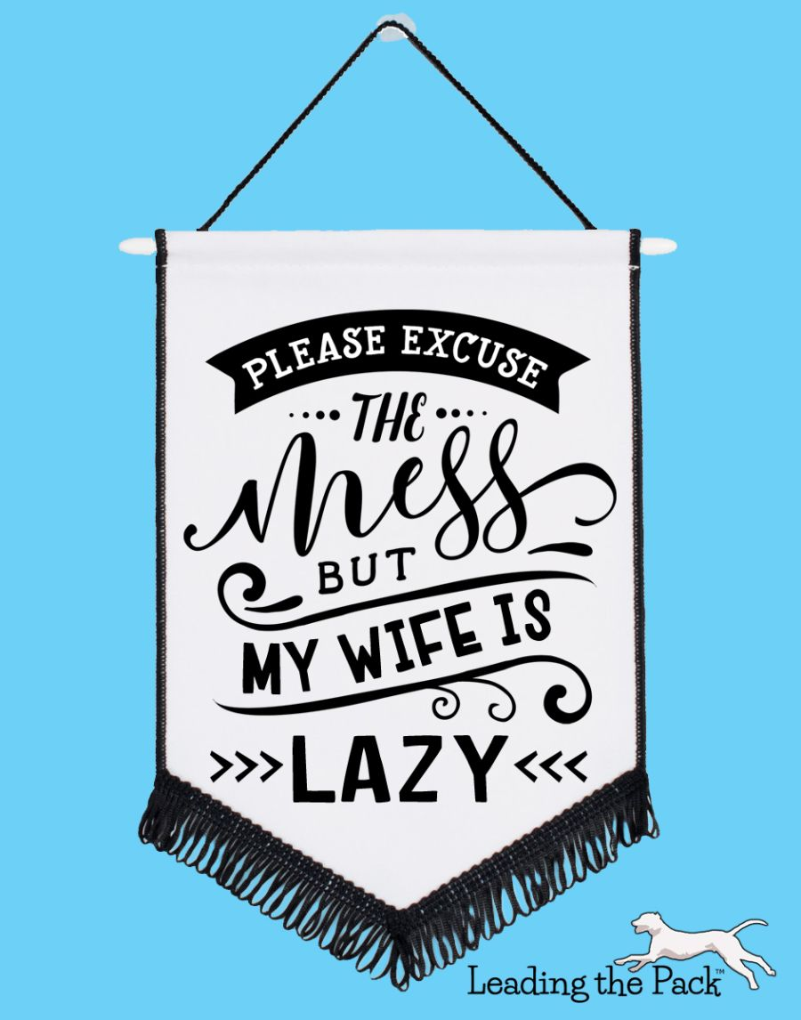 Lazy wife chevron pennant