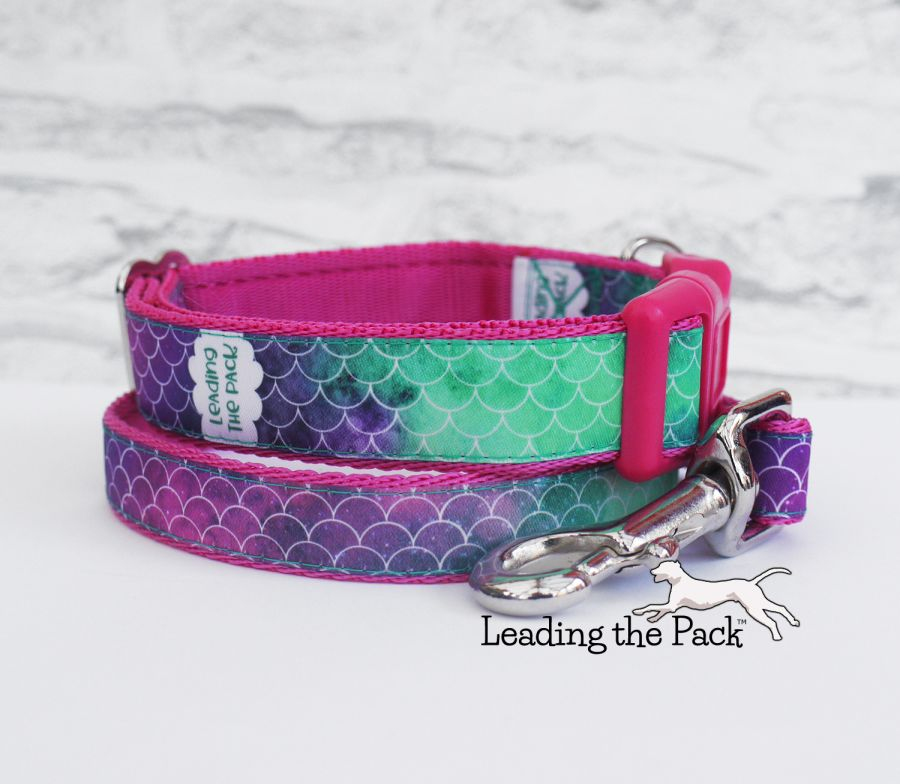 20/25mm mermaid scales collars & leads