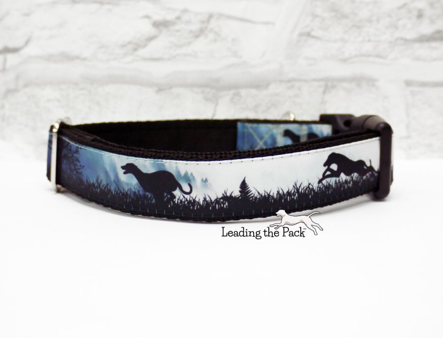 20/25mm misty morning greyhound collars & leads