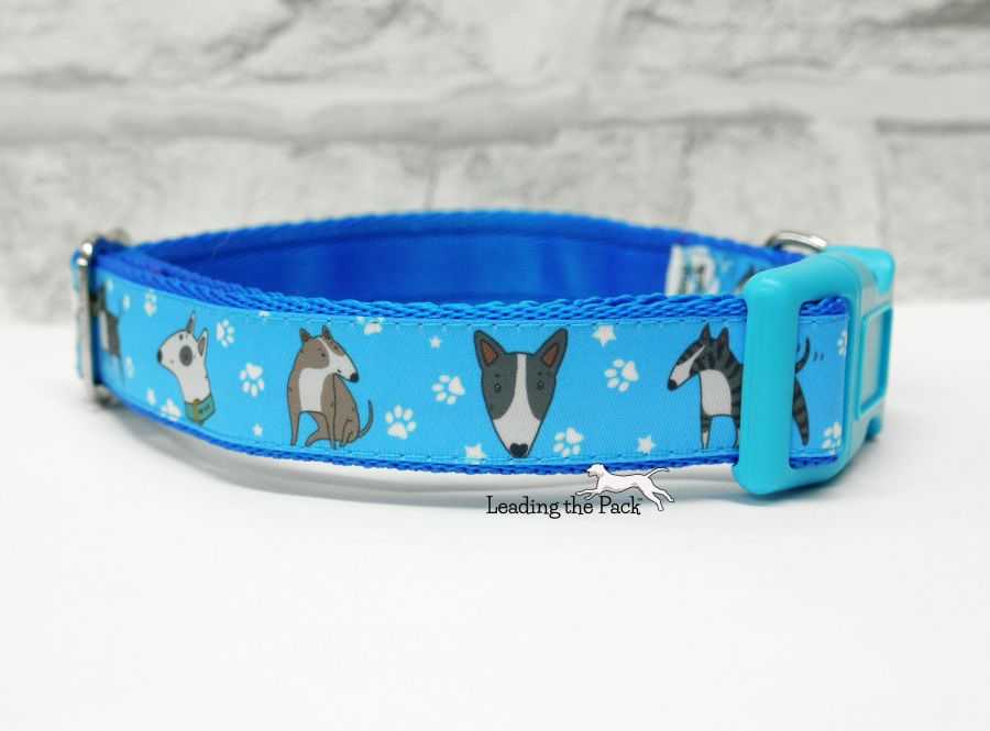 20/25mm doodle English bull terrier collars & leads