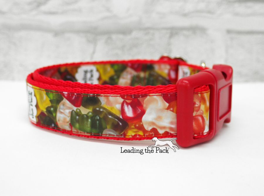 20/25mm gummy bears sweets collars & leads