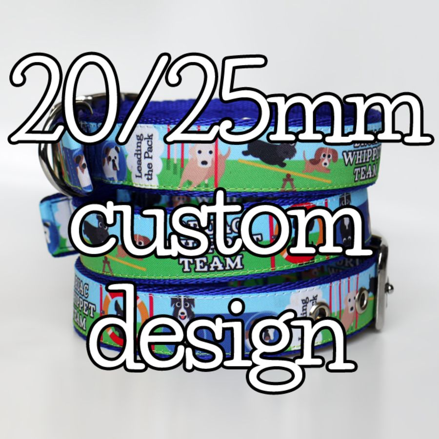 20/25mm custom design collars & leads