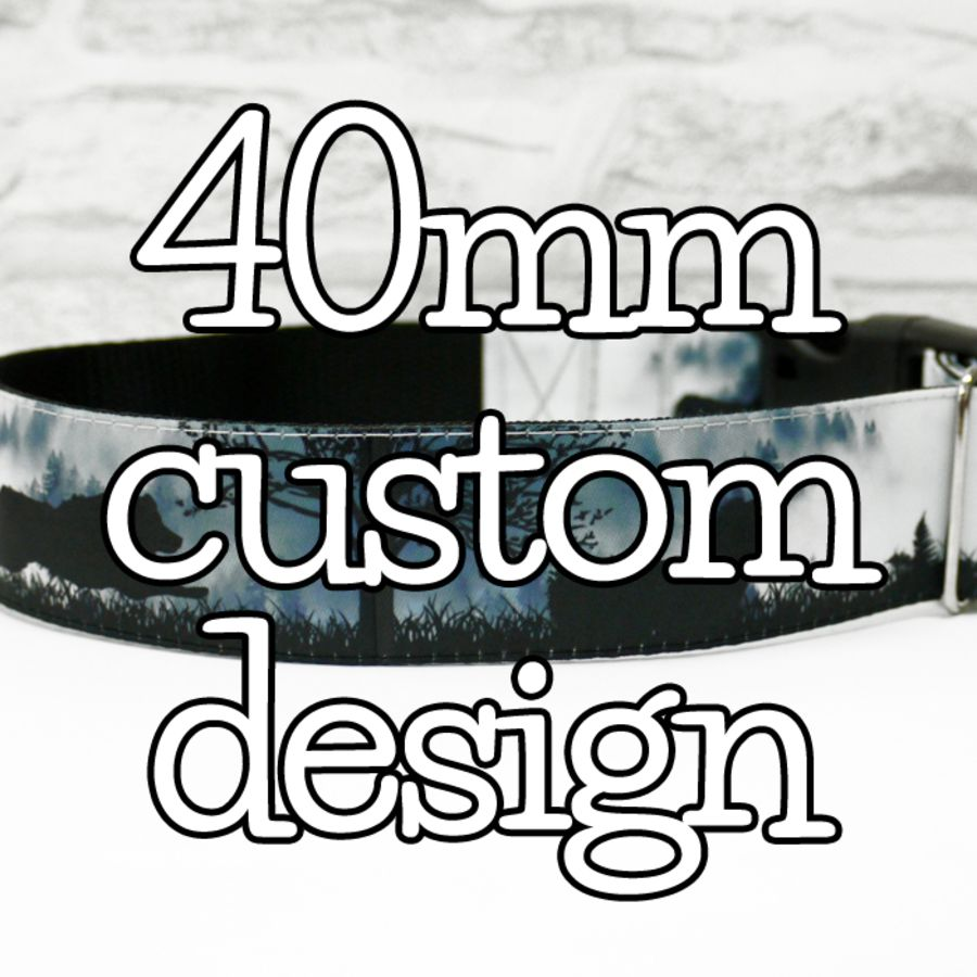 40mm custom design dog collars