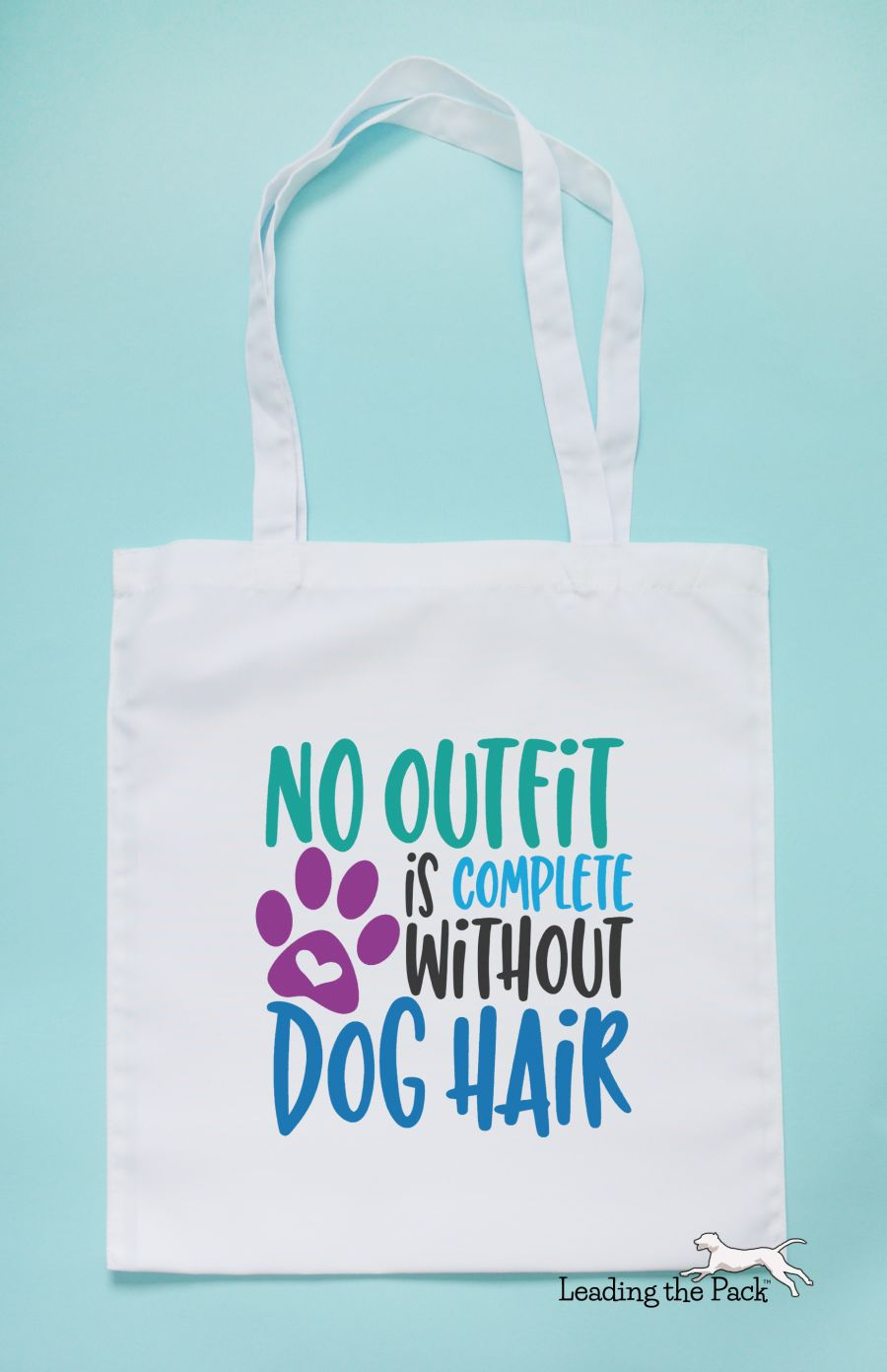 Dog hair outfit tote bag