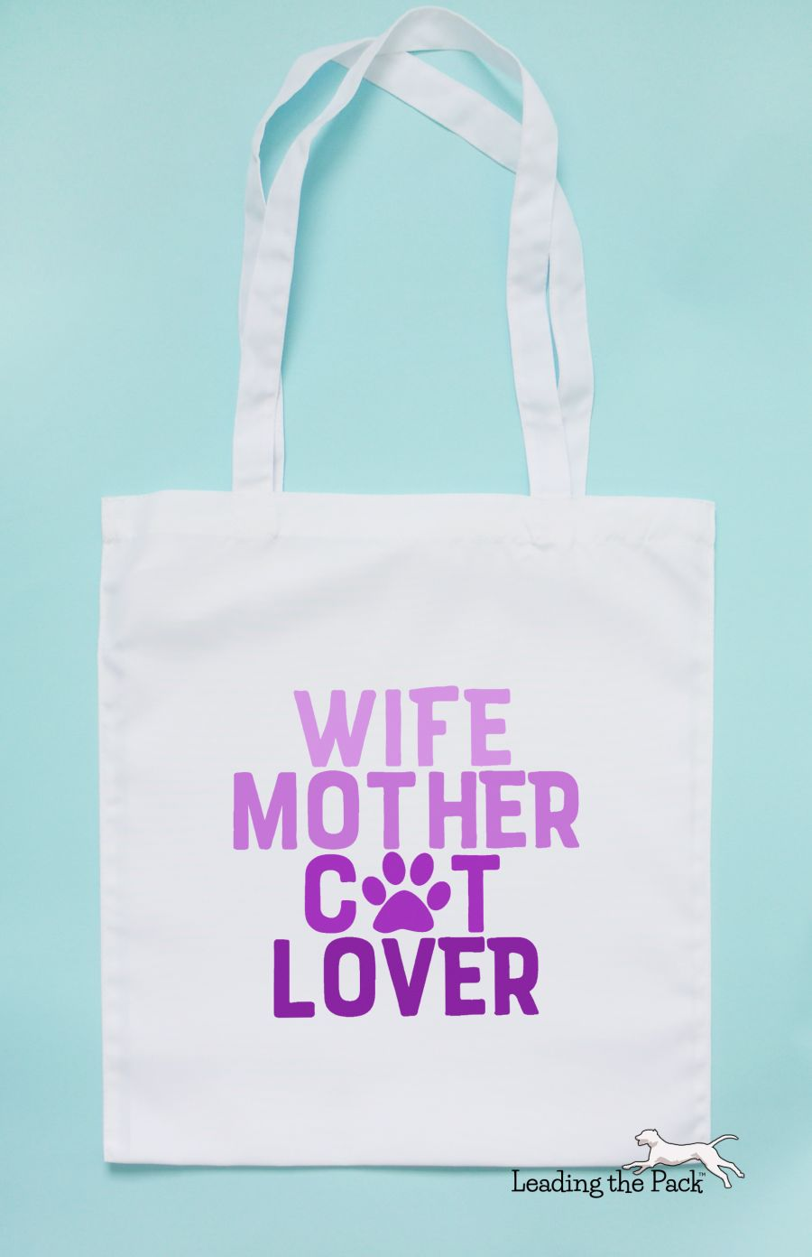 Wife mother cat lover tote bag