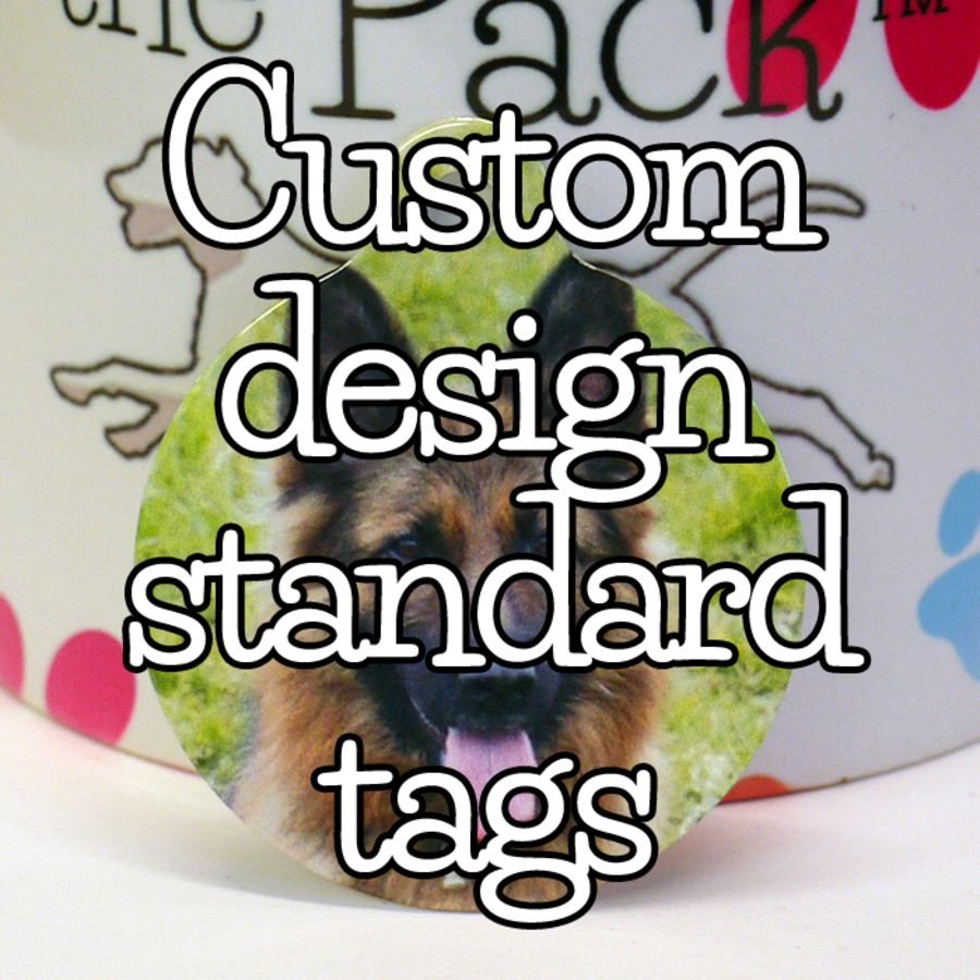 Custom design standard shaped tags