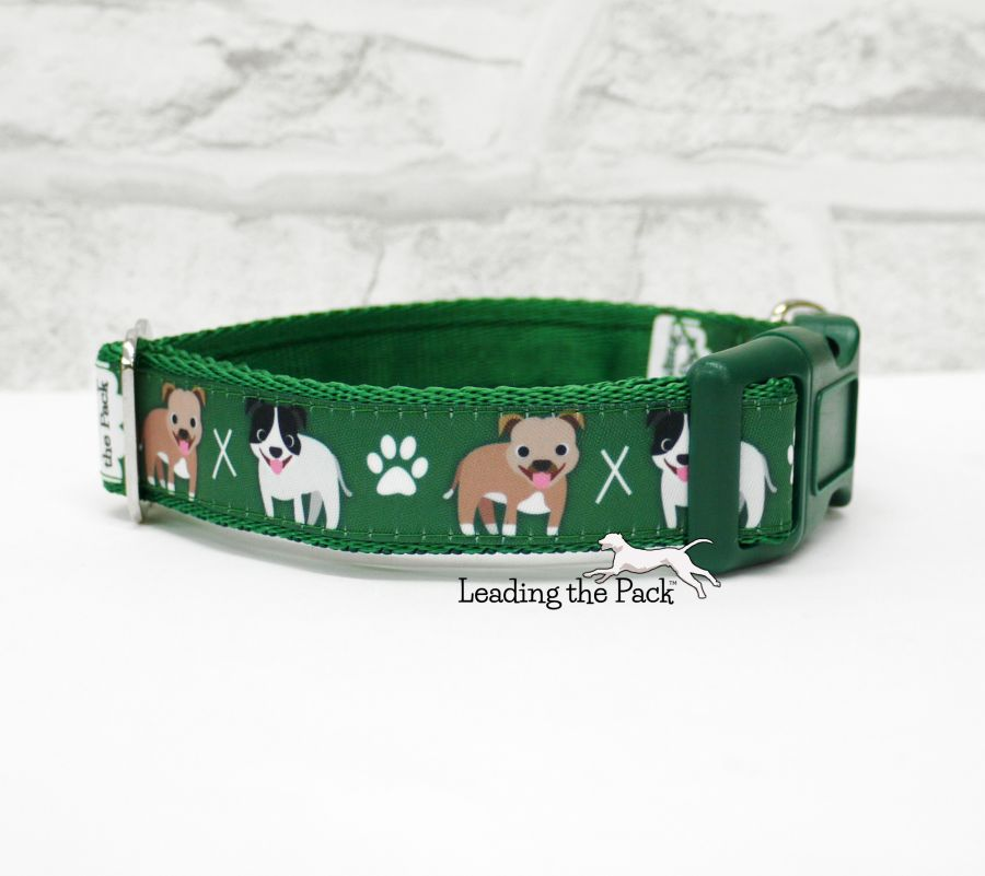20/25mm staffy collars & leads
