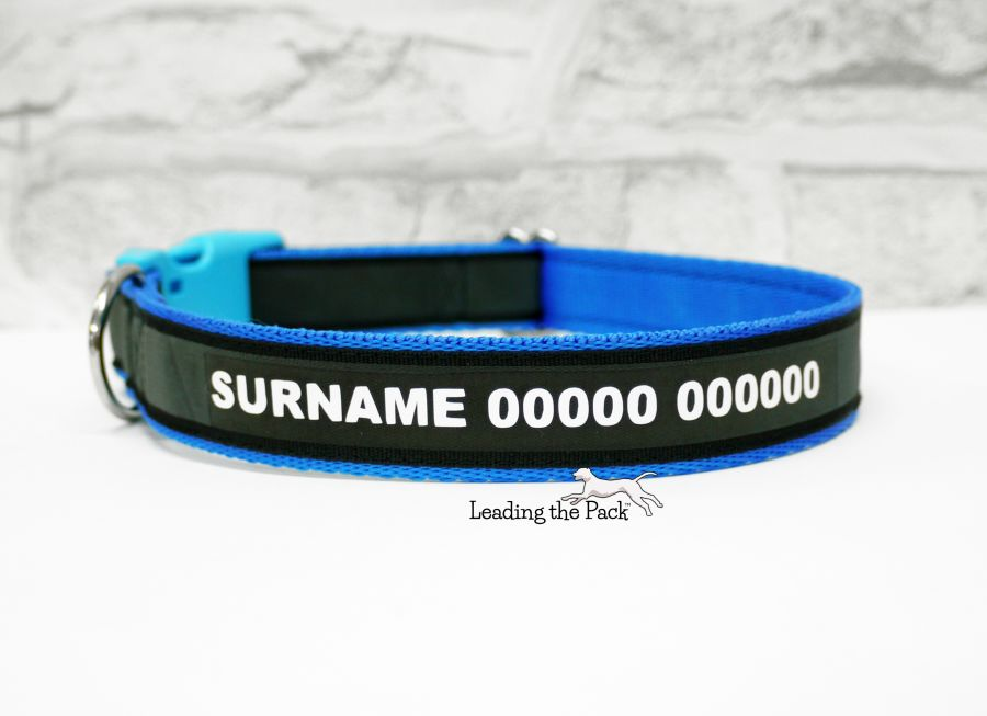 25mm personalised rainbow reflective collars & leads