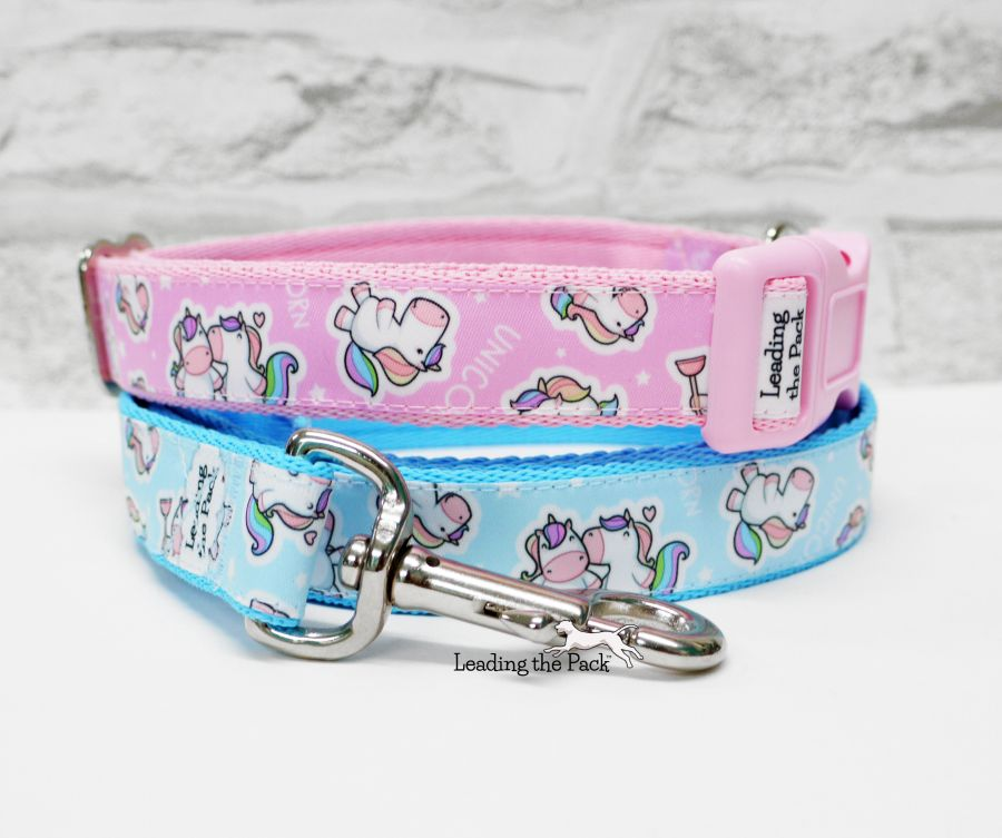 20/25mm unicorn stickers collars & leads