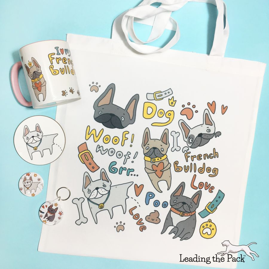 Doodle french bulldog gift bundle