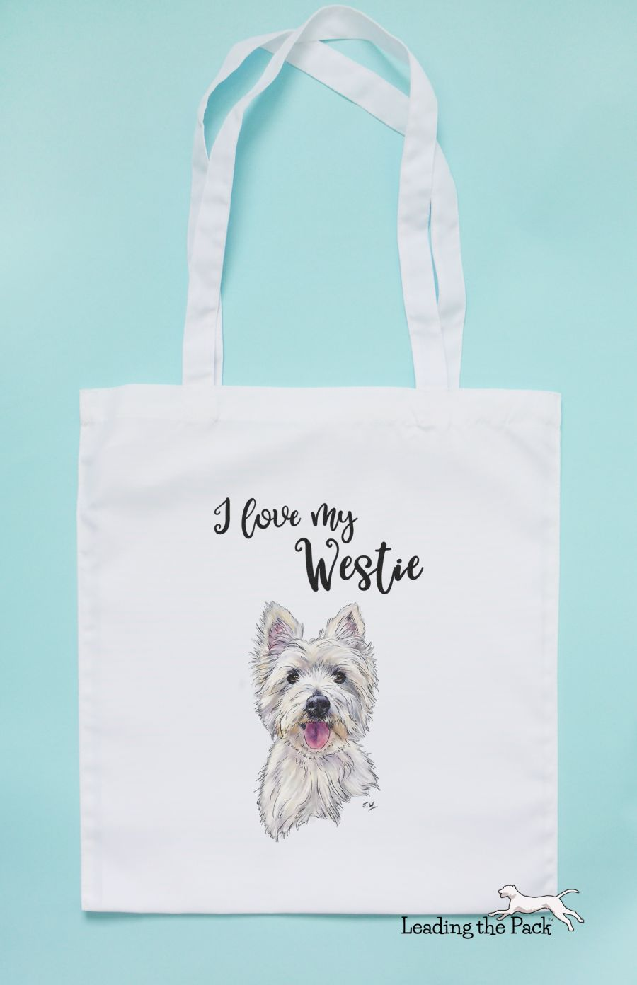 I love my westie tote bag