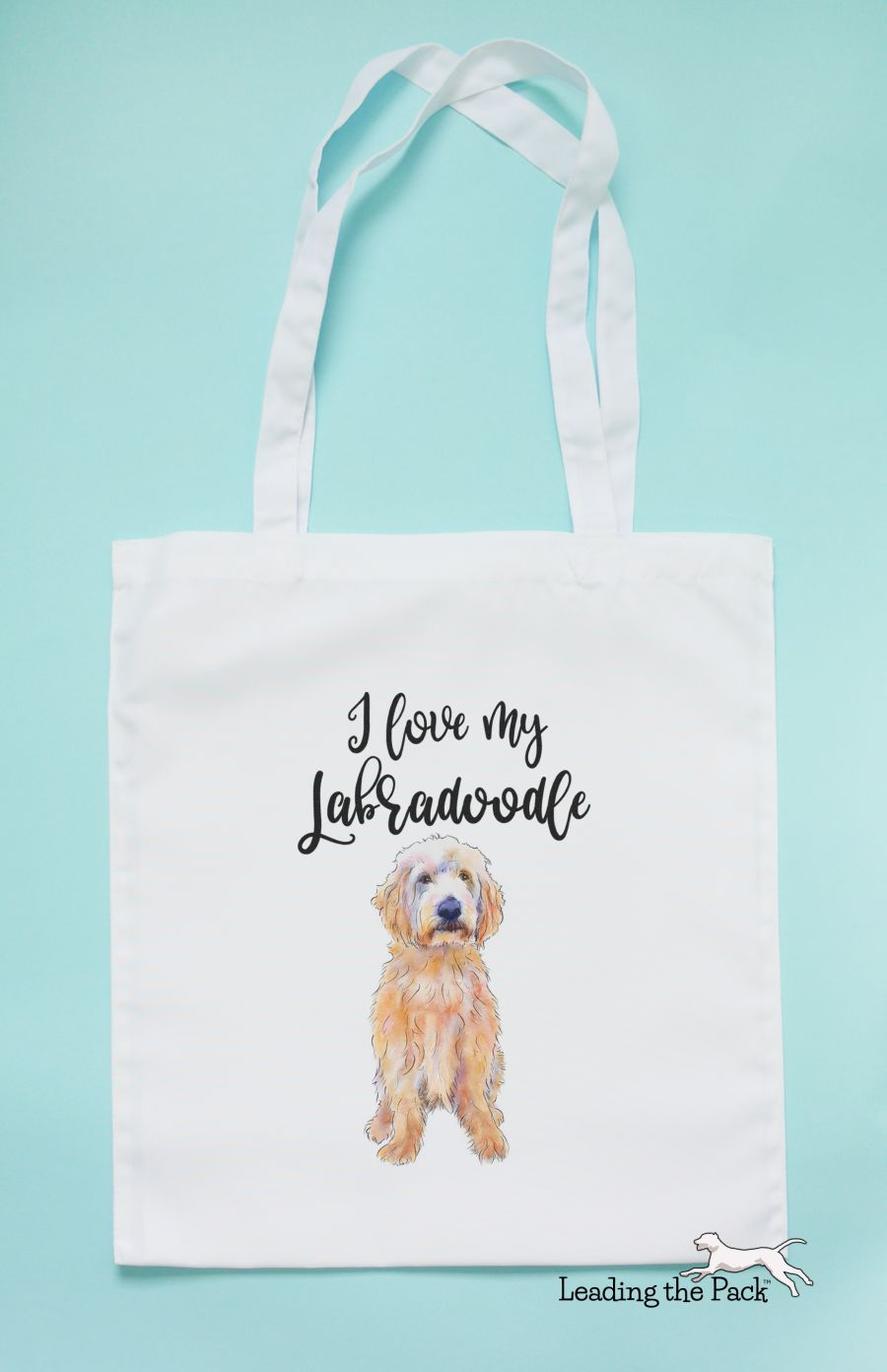 I love my labradoodle tote bag