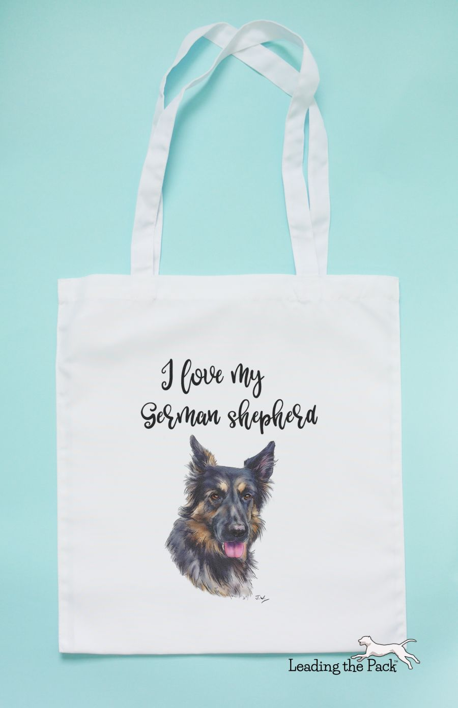 I love my German shepherd tote bag
