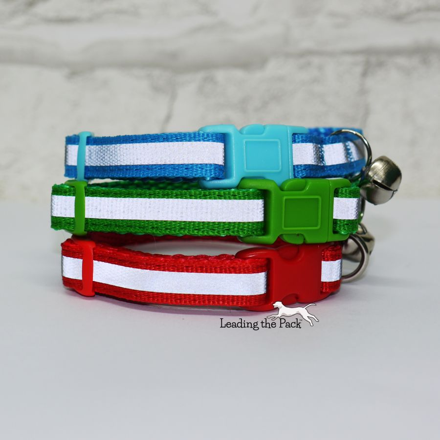 10mm reflective stripe collars & leads