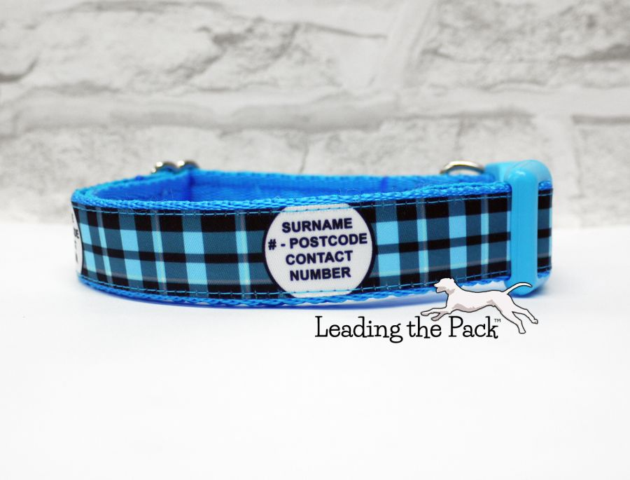 20/25mm personalised contact plaid collars & leads