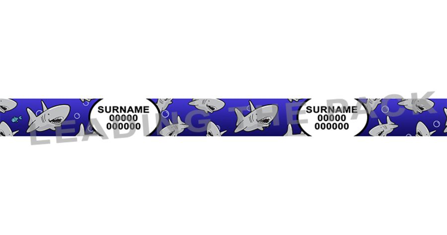 15mm personalised contact shark collars & leads