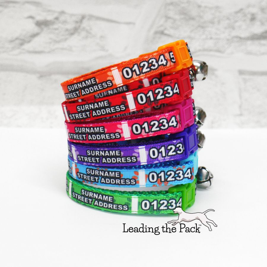 10mm personalised contact details collars