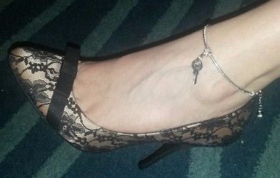 Keyholder Anklet for Cuckoldress or Mistress of a Chastity Cuckold bought from www.sexyjewels.co.uk