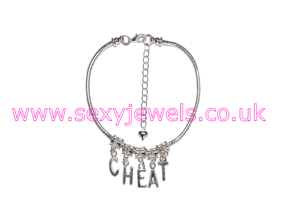 Euro Anklet / Ankle Chain `CHEAT` Cheating Wife