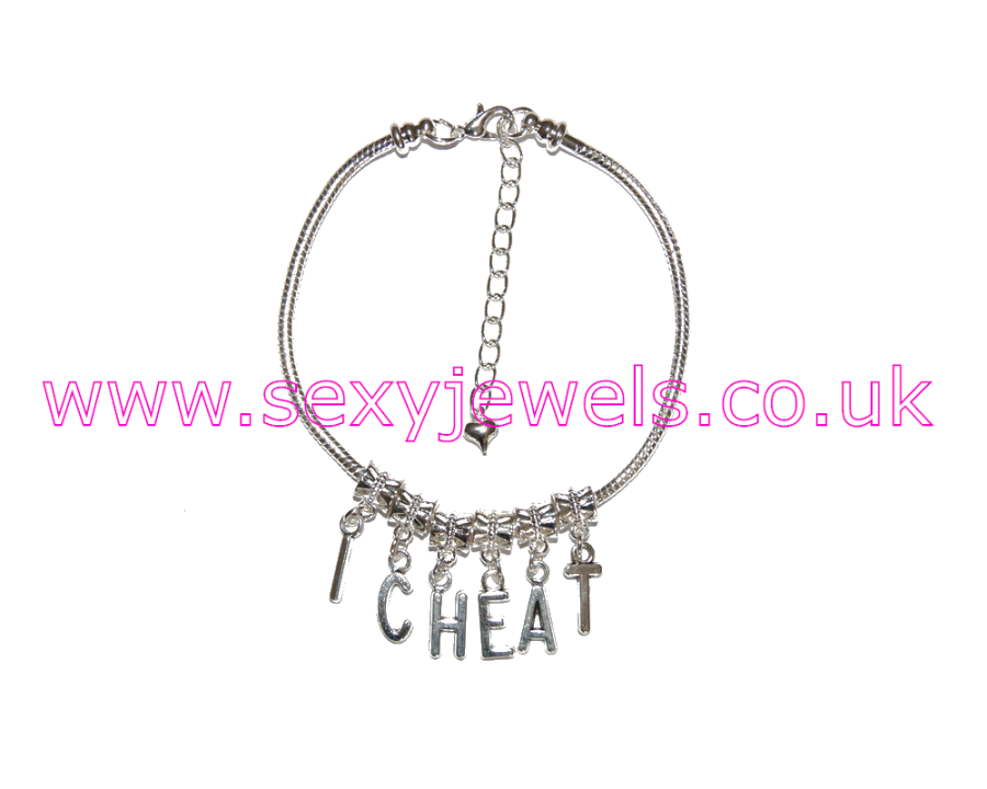 Euro Anklet / Ankle Chain `I CHEAT` Cheating Wife