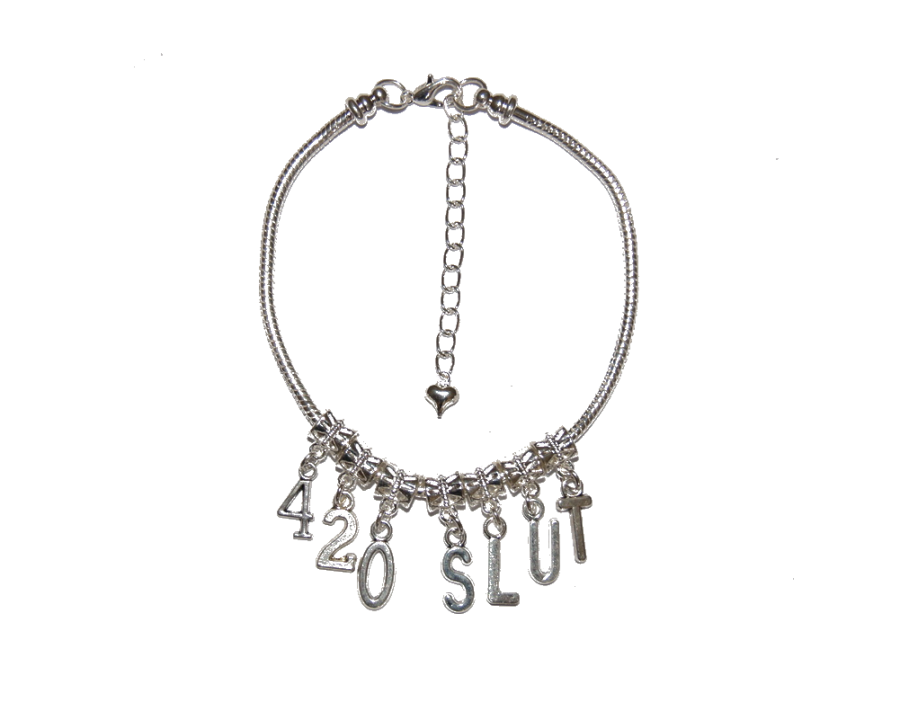Euro Anklet / Ankle Chain `420 SLUT`