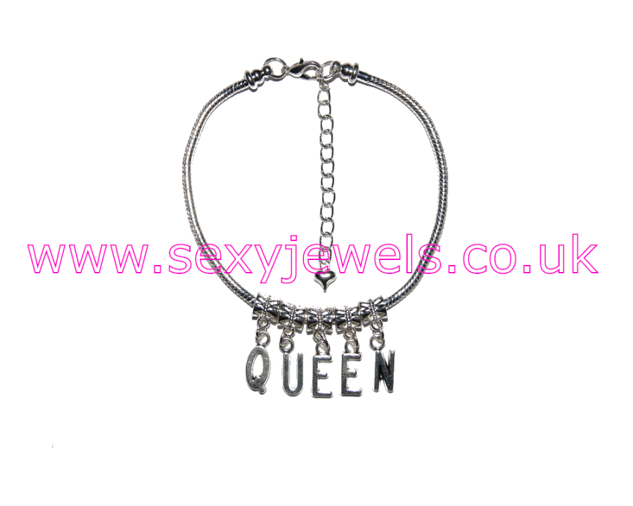 Euro Anklet / Ankle Chain `QUEEN` Cuckoldress BBC Domme