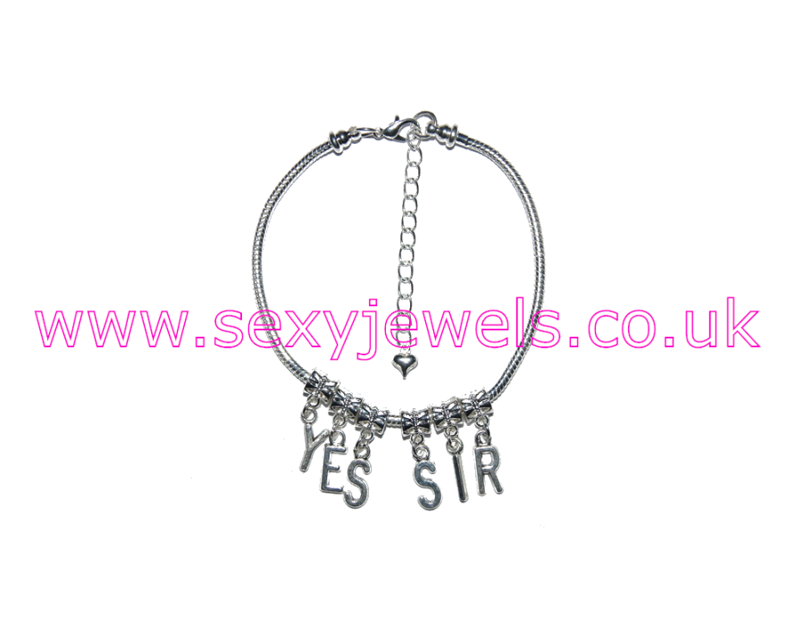 Euro Anklet / Ankle Chain `YES SIR` Submissive