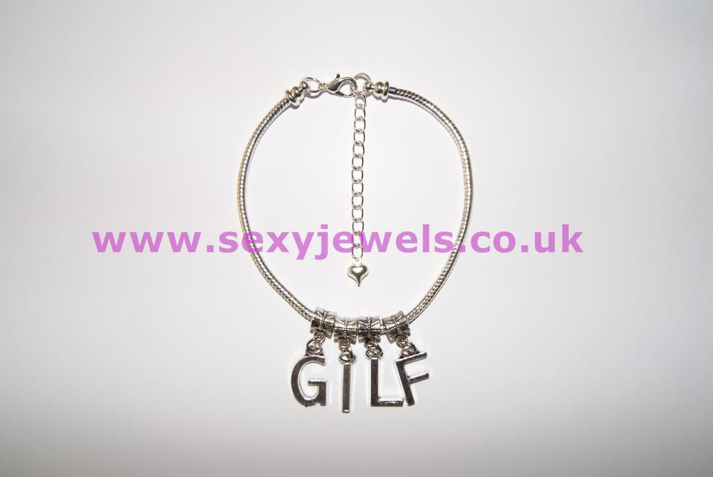 Euro Anklet / Ankle Chain `GILF` (LL) Gran I`d Like to Fuck