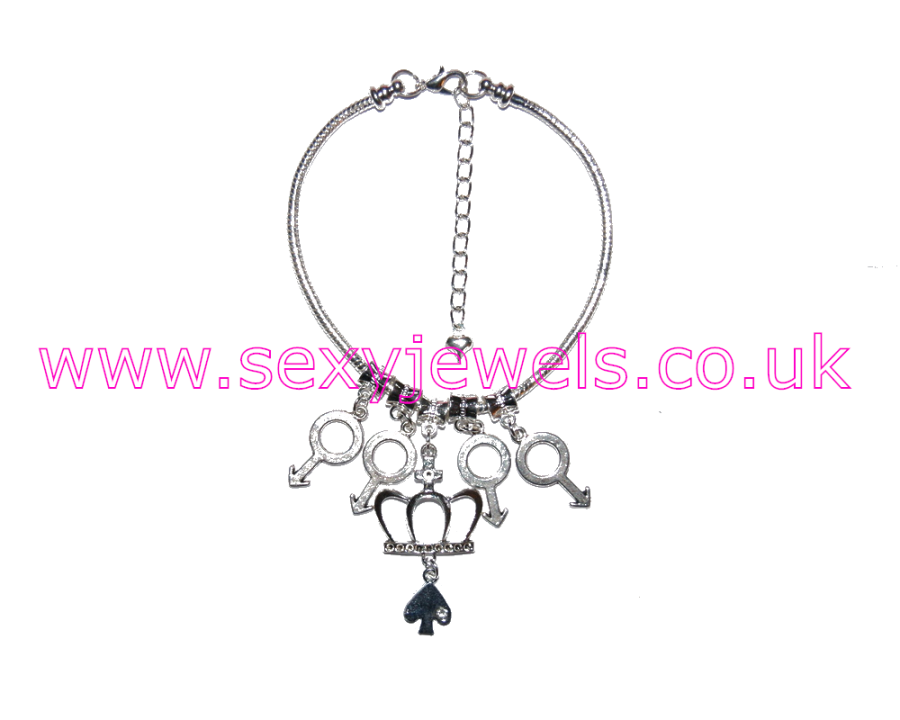 Euro Anklet / Ankle Chain Queen Of Spades QOS Gangbang Style 7