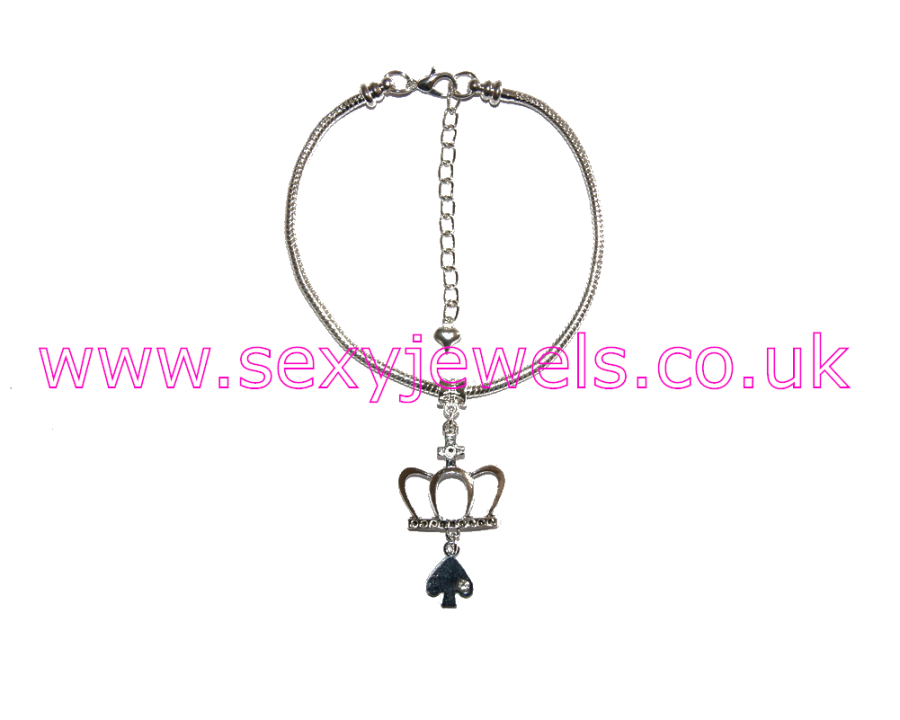 Euro Anklet / Ankle Chain Queen Of Spades QOS Style 8