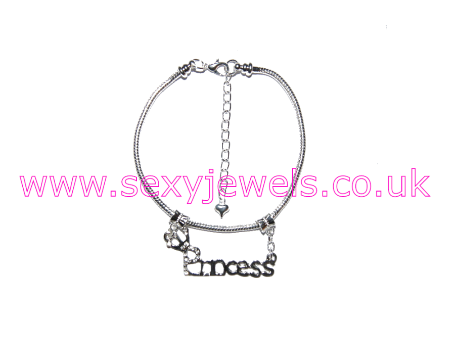 Euro Anklet / Ankle Chain Princess Diamante